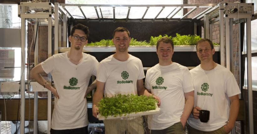 The team behind RoBotany, from left to right: Austin Lawrence, Austin Webb, Brac Webb and Danny Seim. (Photo courtesy of RoBotany.)