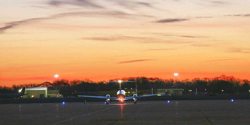 NNSA's Aerial Measuring System plane takes off from Joint Base Andrews in Maryland