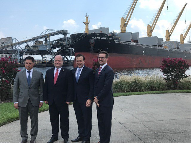 DOE's Acting Assistant Secretary for International Affairs, Wells Griffith, toured the loading facility at the Port of Baltimore and provided brief press remarks to mark this historic occasion. He was joined by DOC's Acting Under Secretary for ITA Israel