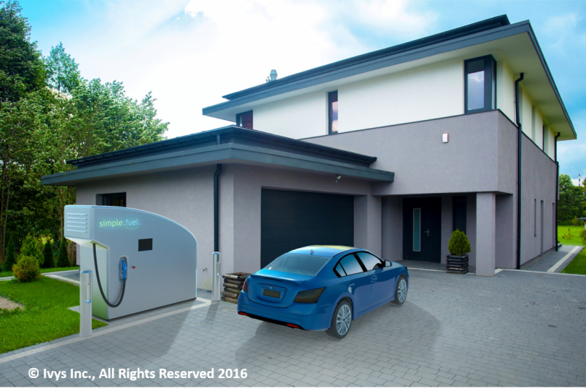 Home refueling using hydrogen produced from water electrolysis
