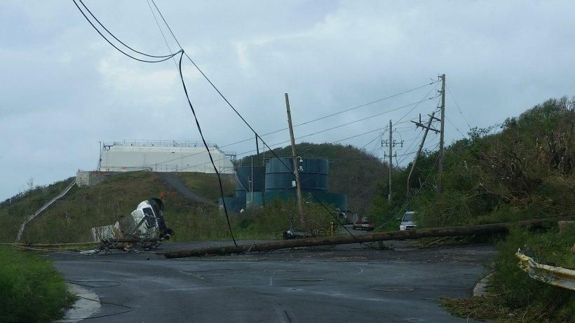Hurricane Irma damage in the Virgin Islands