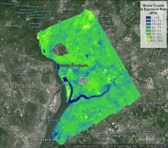 2013 Aerial Measurement System map of Washington, DC