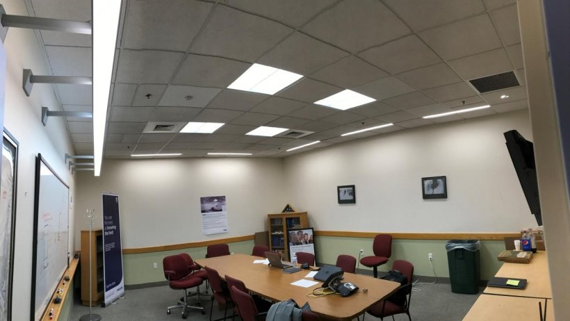 Photo of a conference room.