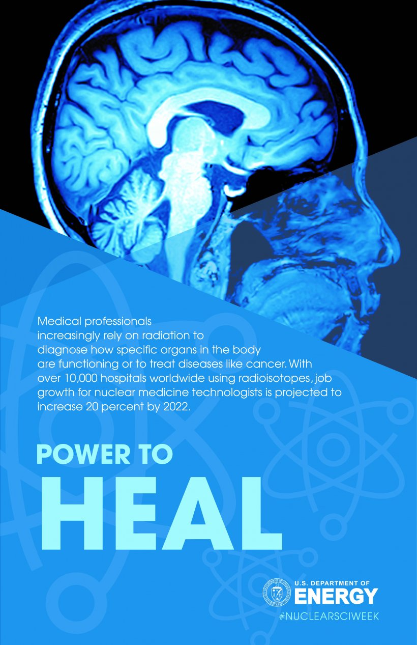 Nuclear science has the power to heal: Medical professionals use nuclear science to diagnose medical conditions and treat diseases.