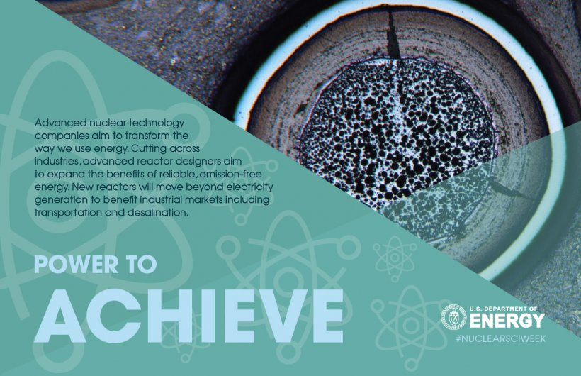 Nuclear science has the power to achieve: Advanced nuclear technology will expand the benefits of reliable, clean energy.