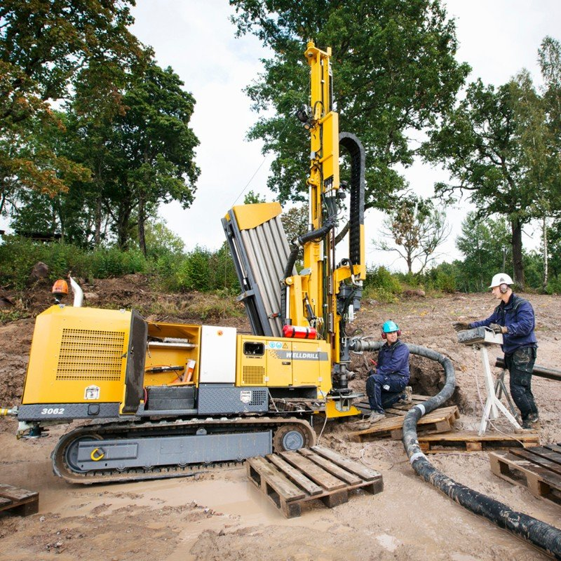 Geothermal well drilling.