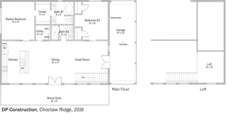 DOE Tour of Zero: Choctaw Ridge by DP Construction floorplans.