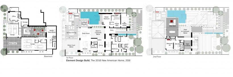 DOE Tour of Zero: The 2016 New American Home  by Element Design Build floorplans.