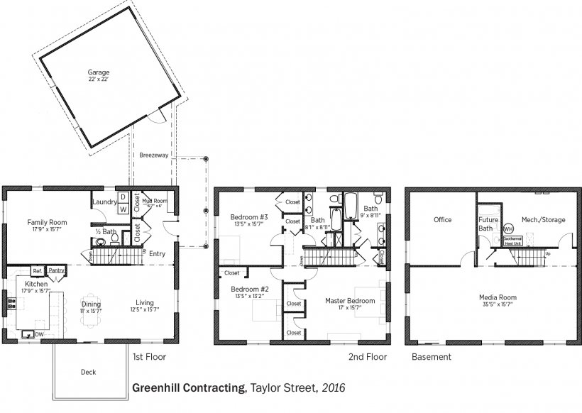 DOE Tour of Zero: Taylor Street by Greenhill Contracting floorplans.
