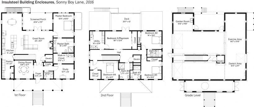 DOE Tour of Zero: Sonny Boy Lane by Insulsteel Building Enclosures floorplans.