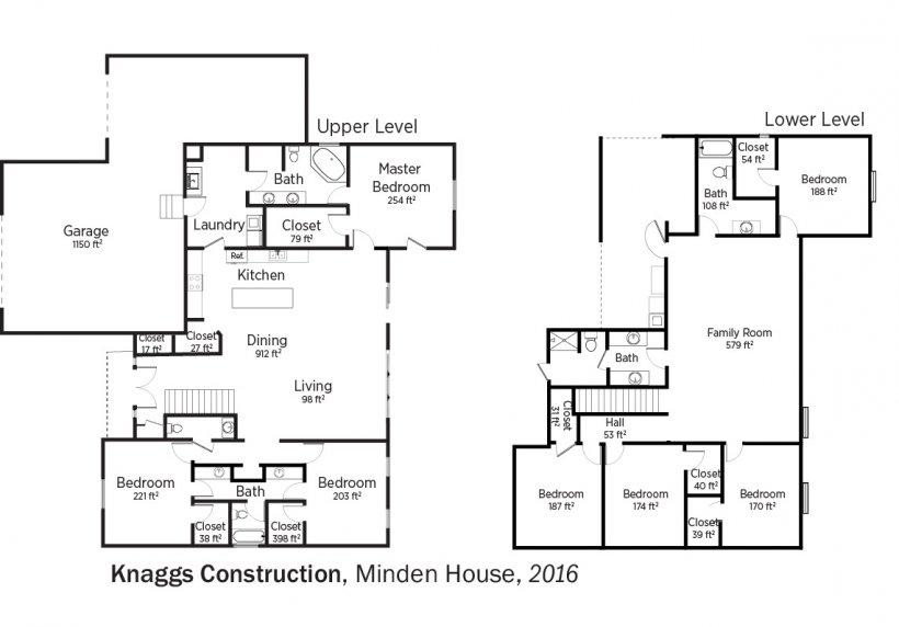 DOE Tour of Zero: Minden House by Knaggs Construction floorplans.