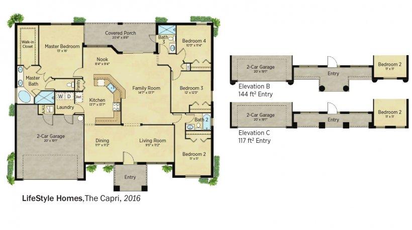 DOE Tour of Zero: The Capri by LifeStyle Homes floorplans.
