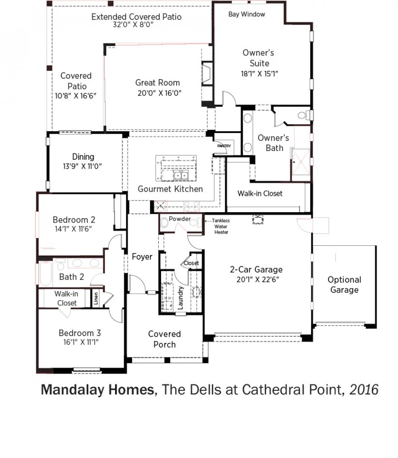 DOE Tour of Zero: The Dells at Cathedral Point by Mandalay Homes floorplans.