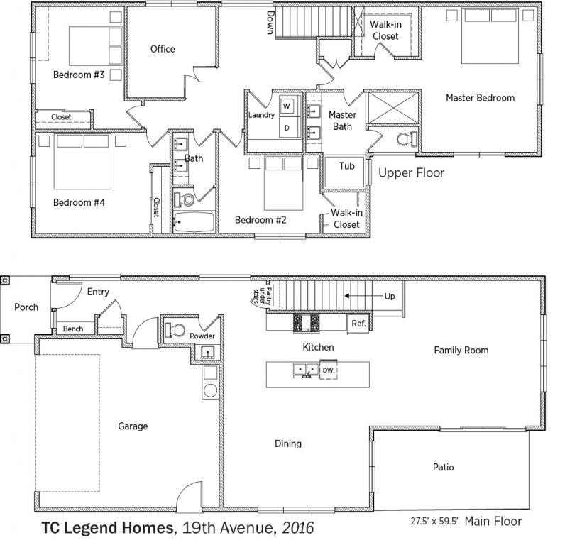 DOE Tour of Zero: 19th Avenue by TC Legend Homes floorplans.