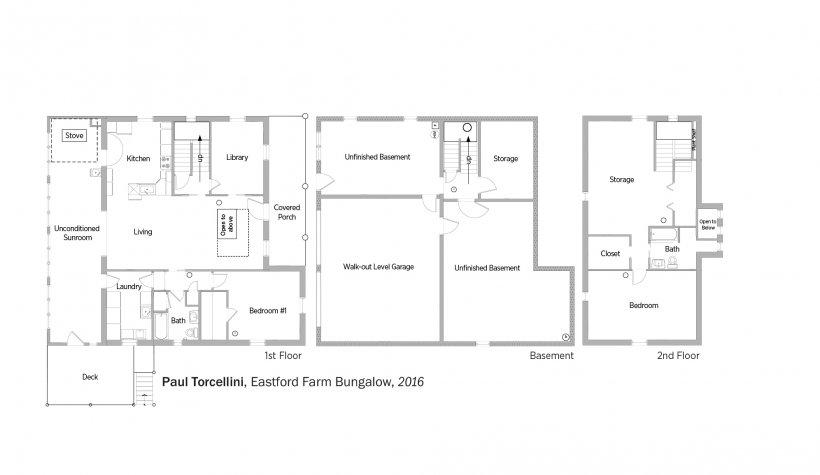 DOE Tour of Zero: Eastford Farm Bungalow by Paul Torcellini floorplans.