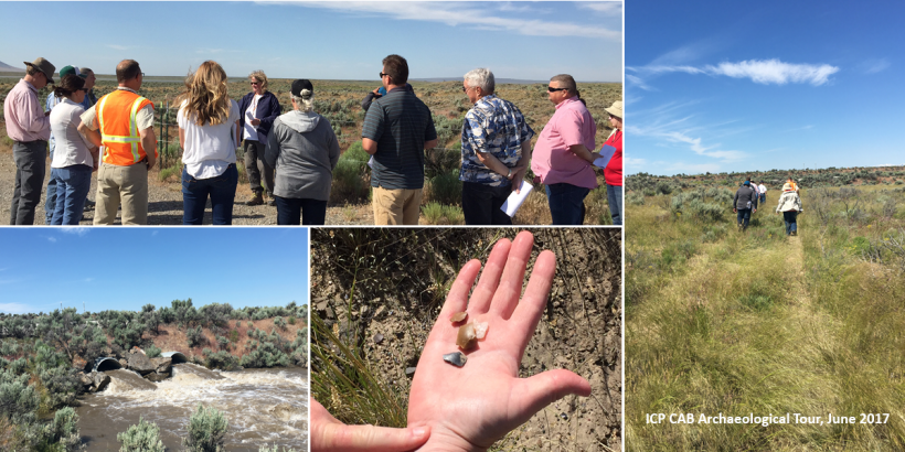 The ICP CAB takes an archaeological tour of the Idaho site in June 2017