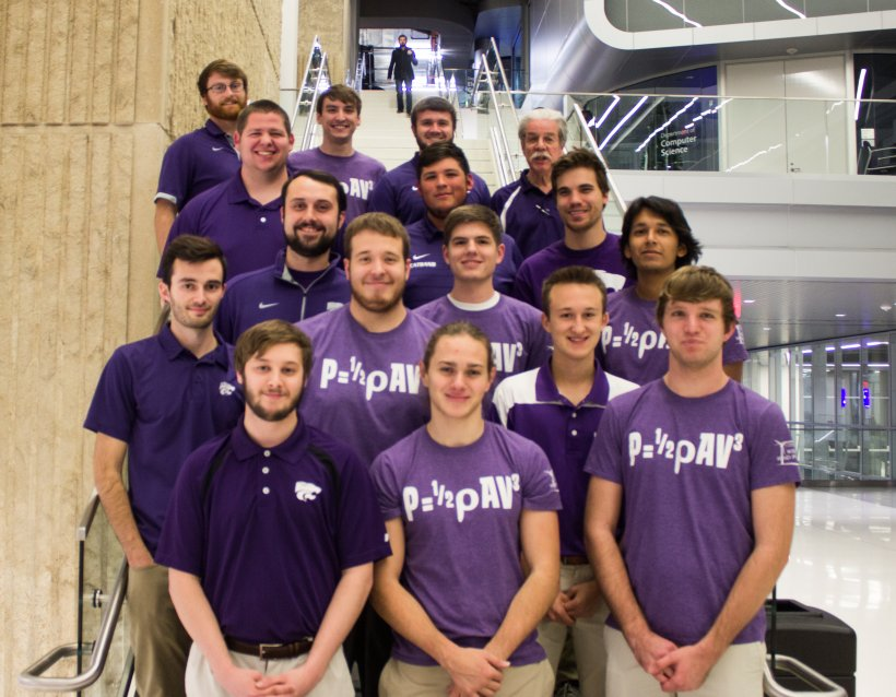 The Kansas State University Collegiate Wind Competition 2018 team.
