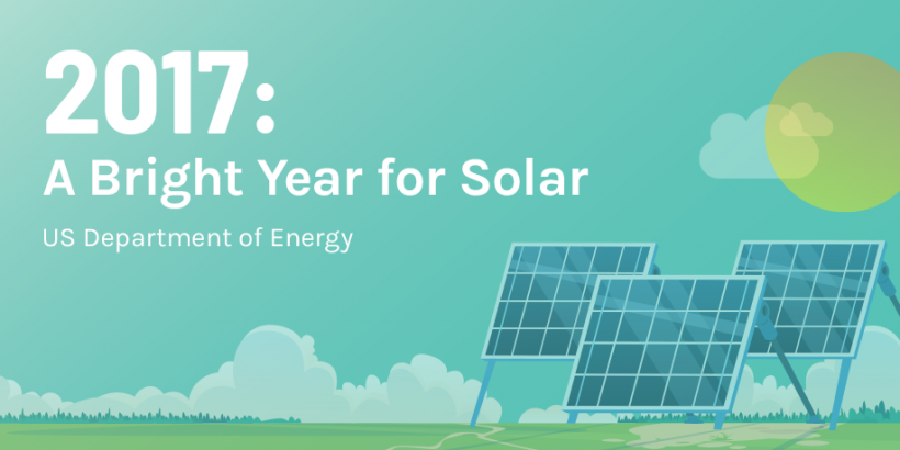 Solar energy infographic about DOE investment promo