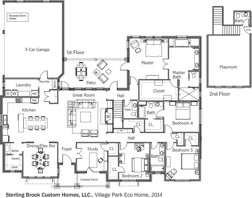 DOE Tour of Zero: Village Park Eco Home by Sterling Brook Custom Homes floorplans.
