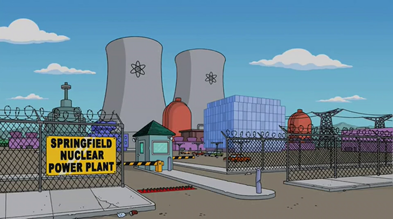 The Simpsons Springfield nuclear power plant.