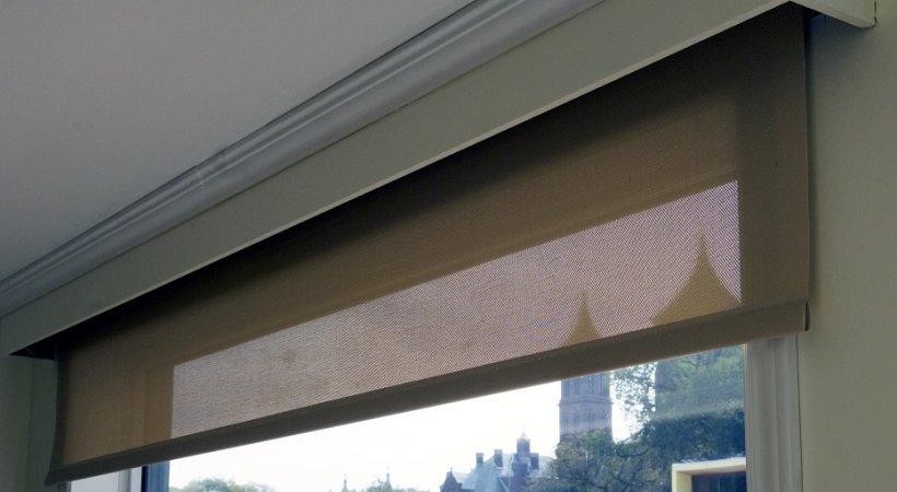 Photo of a window shade.