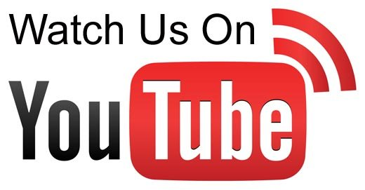 """Watch on us"" YouTube Logo."