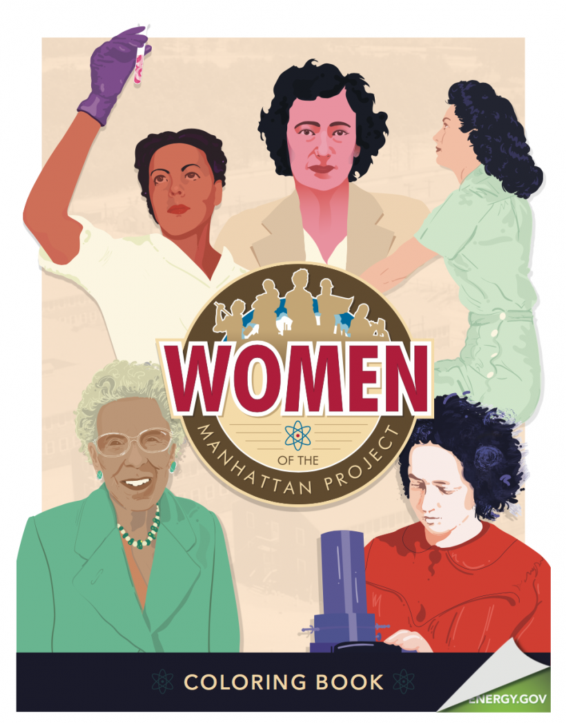 Women of the Manhattan Project coloring book
