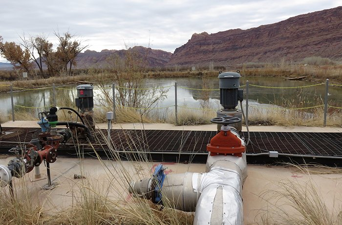 The pumping system for the Moab Uranium Mill Tailings Remedial Action Project.