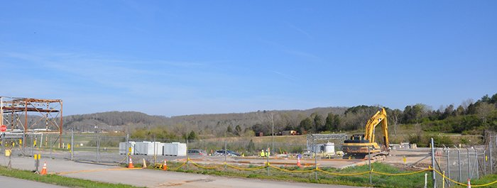 The Central Neutralization Facility after demolition was completed.