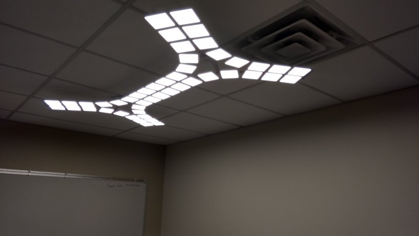 ceiling LED lighting structure.