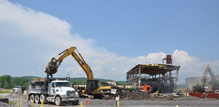 All of the debris has already been removed from the demolition project.