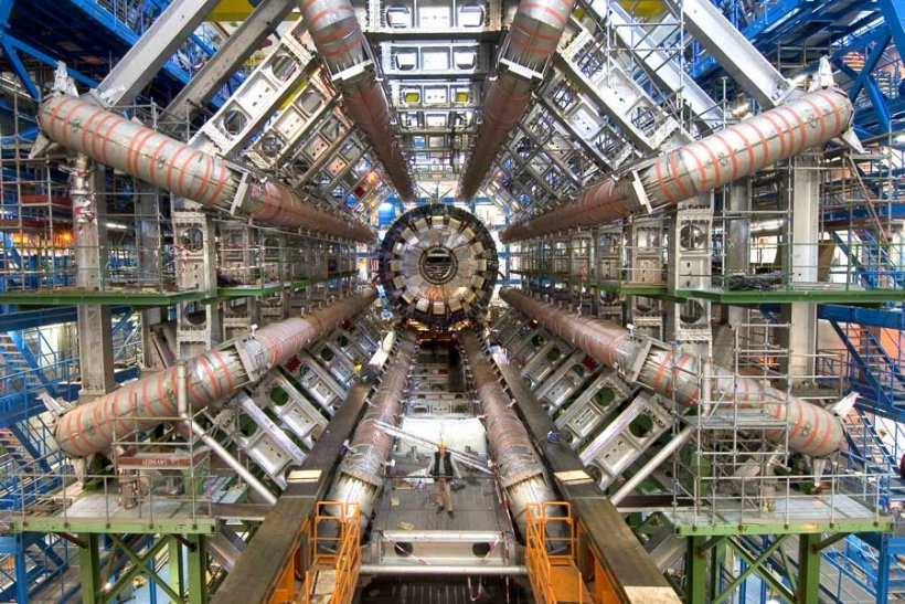 Photograph of the U.S. contribution to the Large Hadron Collider, which has been completed on budget and ahead of schedule.