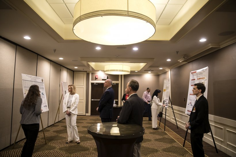 Students from each consortium and a small business presented research outcomes during a featured poster session to NNSA Administrator Lisa E. Gordon-Hagerty and others.