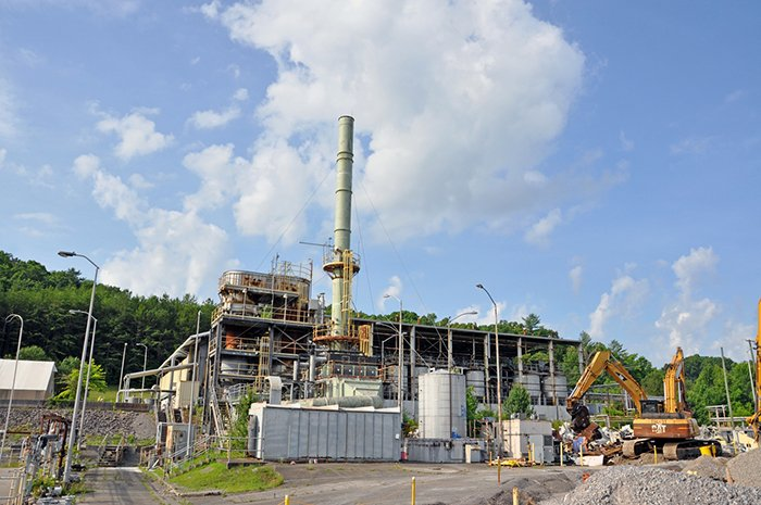 Demolition is underway on the TSCA Incinerator. The facility treated more than 35 million pounds of waste during its 20 years of operations.