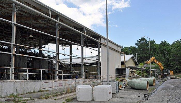 Initial demolition activities at Oak Ridge's TSCA Incinerator began recently.