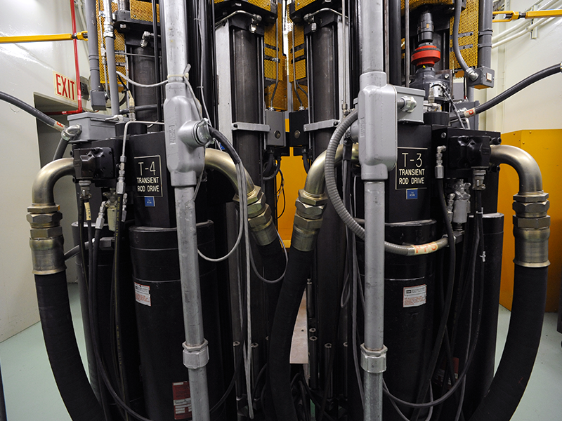 Hydraulic system used in a test reactor.