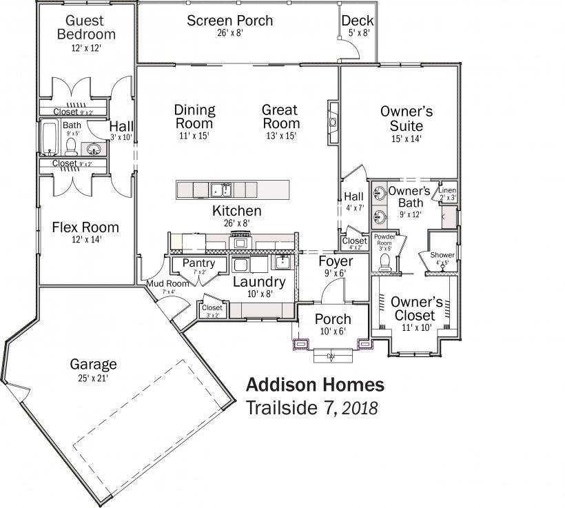 DOE Tour of Zero: Trailside 7 by Addison Homes floorplans.