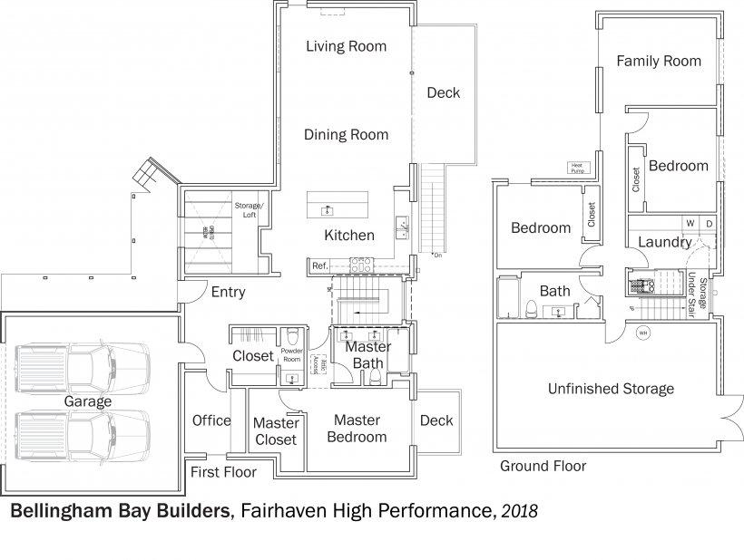 DOE Tour of Zero: Fairhaven High Performance by Bellingham Bay Builders floorplans.