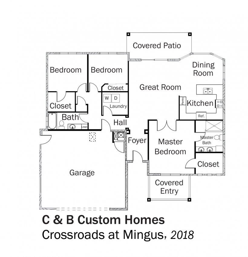 DOE Tour of Zero: Crossroads at Mingus by C & B Custom Homes  floorplans.