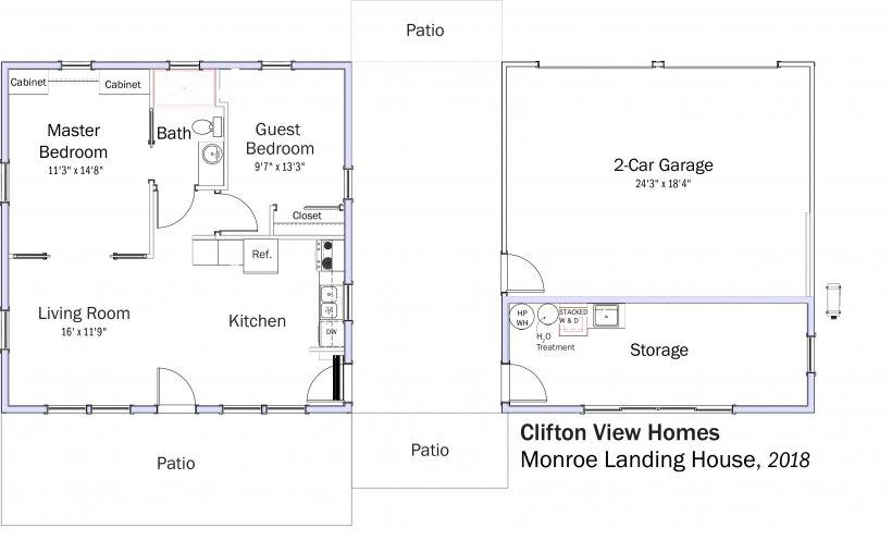 DOE Tour of Zero: Monroe Landing House by Clifton View Homes floorplans.