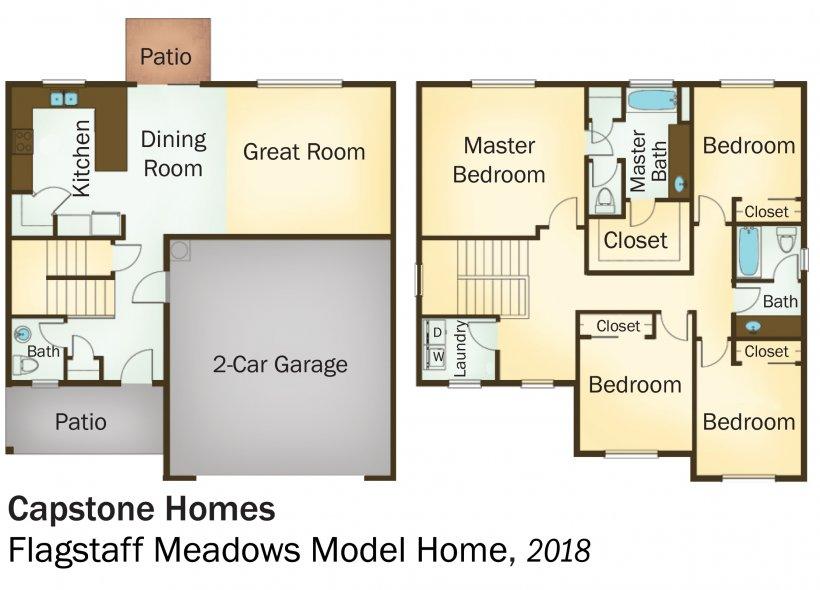 DOE Tour of Zero: Flagstaff Meadows Model Home by Capstone Homes floorplans.