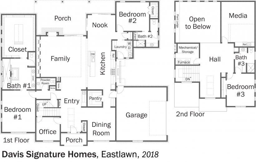 DOE Tour of Zero: Eastlawn by Davis Signature Homes floorplans.