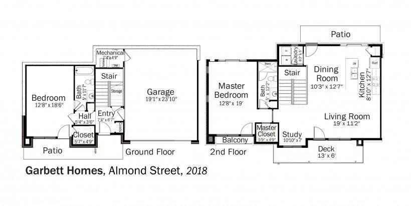 DOE Tour of Zero: Almond Street by Garbett Homes floorplans.