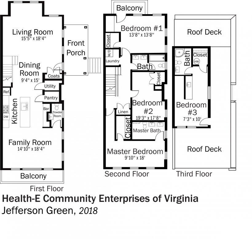DOE Tour of Zero: Jefferson Green by Health-E Community Enterprises of Virginia floorplans.
