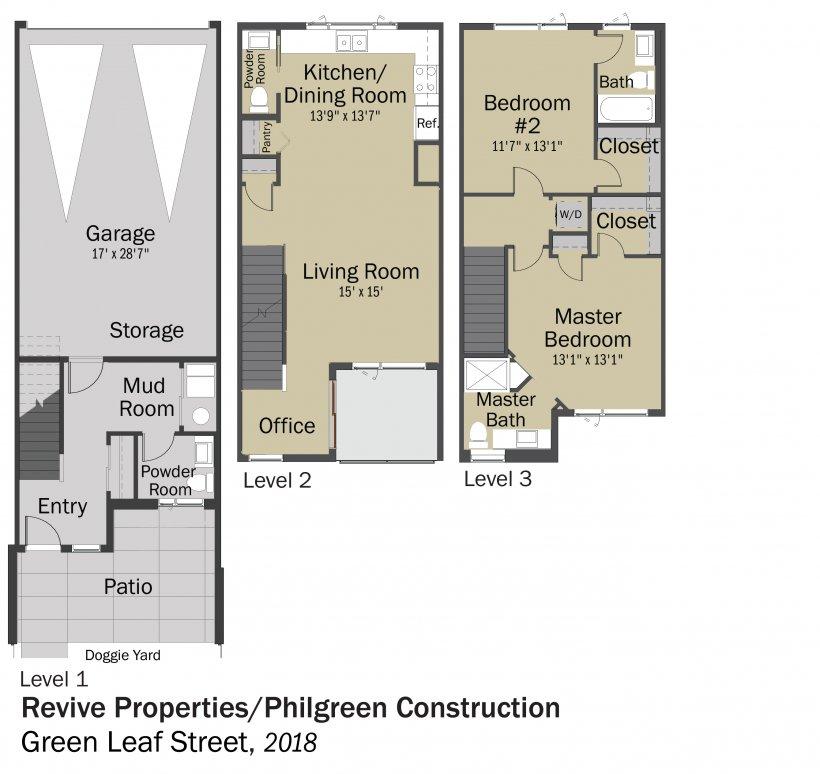 DOE Tour of Zero: Green Leaf Street by Philgreen Construction / Revive floorplans.