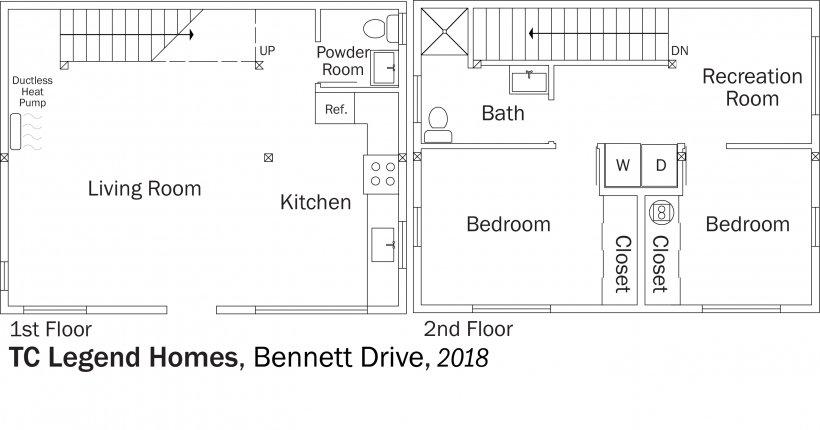 DOE Tour of Zero: Bennett Drive by TC Legend Homes floorplans.