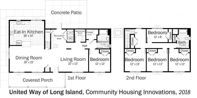 DOE Tour of Zero: Community Housing Innovations by United Way of Long Island floorplans.