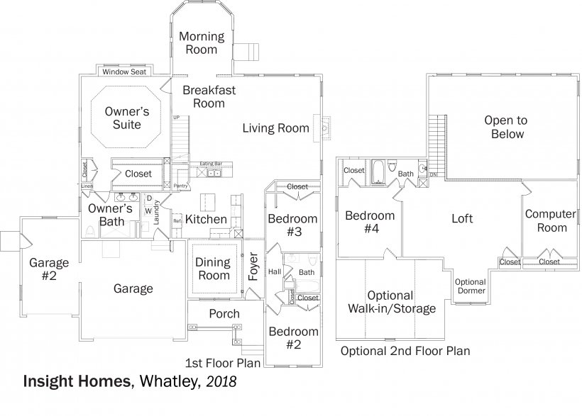 DOE Tour of Zero: Whatley by Insight Homes floorplans.