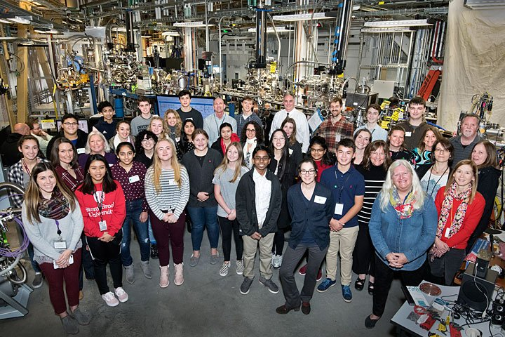 """Twenty-two students from seven Suffolk County high schools visited Brookhaven Lab for the 29th annual """"Partners in Science"""" day, meeting with Lab research librarians, scientists, and subject matter experts for a day of research and facility tours."""