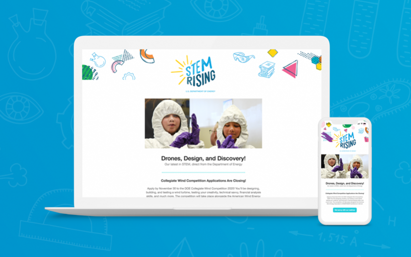 Stem Rising newsletter promotional image